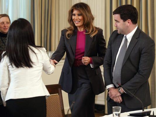 Melania Trump, Carlos Monje, Jennifer Stout