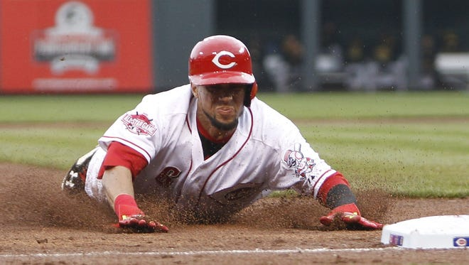 Reds speedster Billy Hamilton finished second in the majors last season with 58 stolen bases, 36 of them coming after the All-Star break.