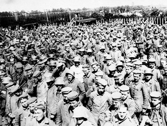 Russian Army prisoners from Siberia are shown in this undated photo. They were captured by the Germans during action around Lodz, Poland. Date is unknown. (AP Photo)