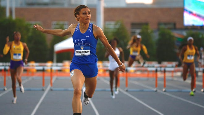 Kentucky freshman Sydney McLaughlin dominates in the 400 hurdles at the SEC championships, setting a collegiate record.