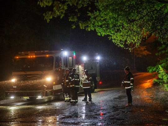 Fire Department block off Maplewood Drive in Little