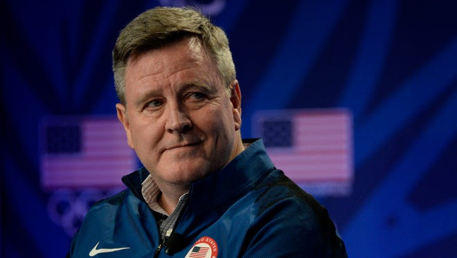 This file photo from 2016 shows U.S. Olympic Committee CEO Scott Blackmun at the 2016 Team USA Media Summit at Beverly Hilton in Los Angeles.