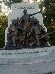 The state of Alabama's monument on the Gettysburg battlefield,