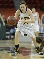 Algoma senior guard Baleigh Delorit helped her team