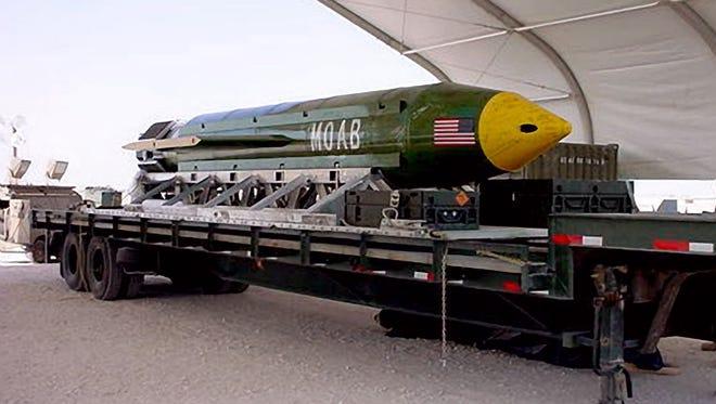The GBU-43/B Massive Ordnance Air Blast bomb.
