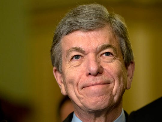Sen. Roy Blunt, R-Mo., at a news conference on Capitol