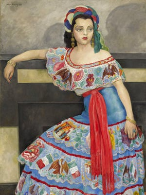 "This image provided by Sotheby's shows the 1951 painting ""Portrait of Señorita Matilde Palou"" by Diego Rivera. It depicts Matilde Palou, a Chilean actress and singer who gained fame in Mexican cinema, and is part of Sotheby's Latin American art sale May 25 in New York."