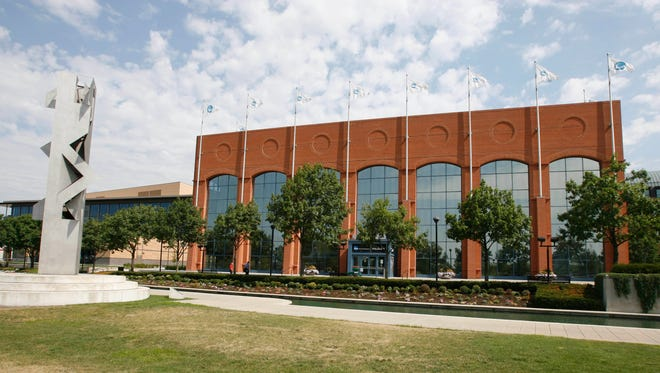 The NCAA, its Indianapolis headquarters shown here, is seeking a delay in the O'Bannon case against the association, Electronic Arts and Collegiate Licensing Co.