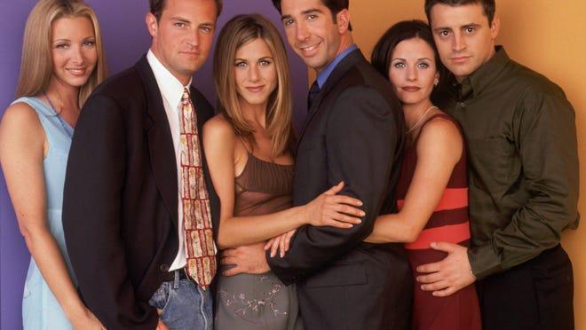 "Lisa Kudrow, Matthew Perry, Jennifer Aniston, David Schwimmer, Courteney Cox, Matt LeBlanc on ""Friends."""