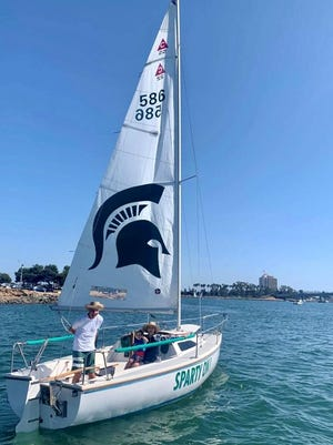 Spartan Martin Molina moved to San Diego but boats with a Spartan sail.