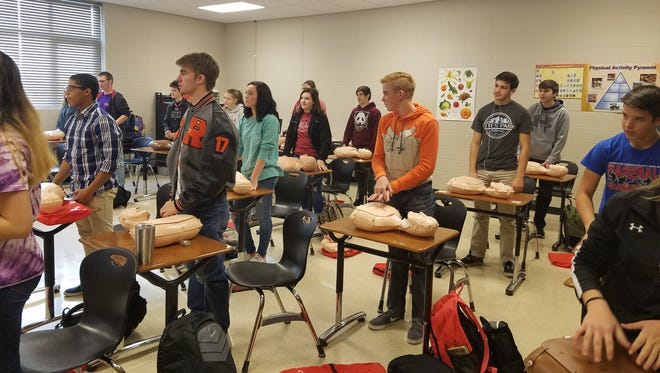 About 400 Republic School District students were provided hands-only CPR training on Dec. 15, 2016.