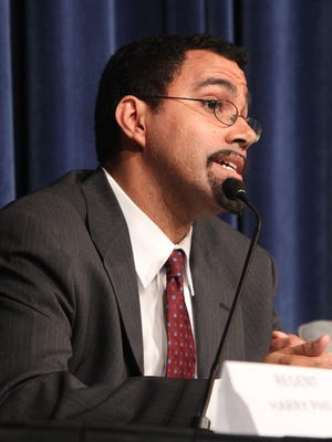 Education Commissioner John King during an October 2013 forum on the Common Core state standards at Port Chester Middle School.