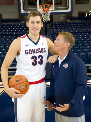 National player of the year candidate Kyle Wiltjer, poses with Gonzaga head coach Mark Few.