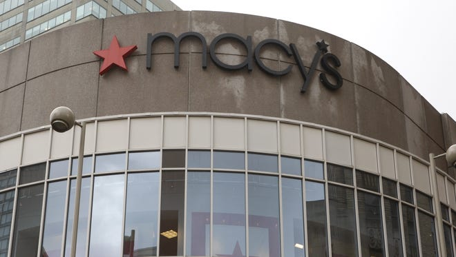 The exterior of Macy's in downtown Cincinnati