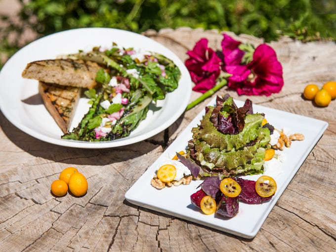 This is the grilled romaine salad and the roasted beet