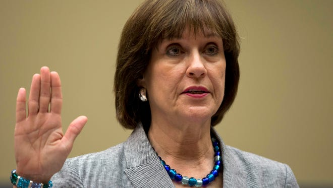 Then-IRS official Lois Lerner is sworn in on Capitol Hill in Washington.