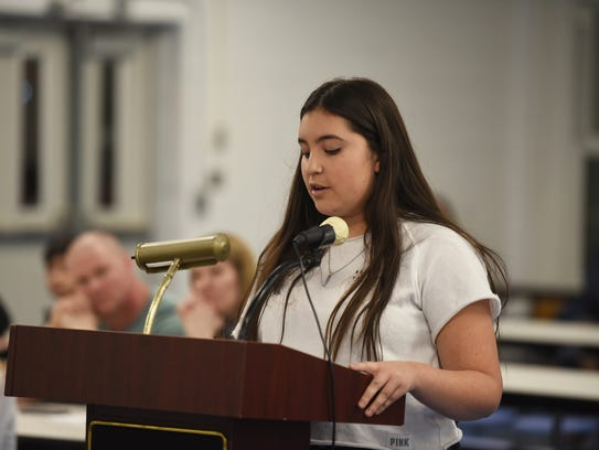 Valeria Saavedra, a North Arlington High School freshman,