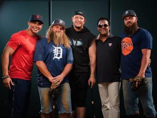 "The ""Diesel Brothers"" with Tigers slugger Miguel Cabrera"