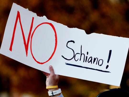 Tennessee fans protested Greg Schiano's potential hiring.