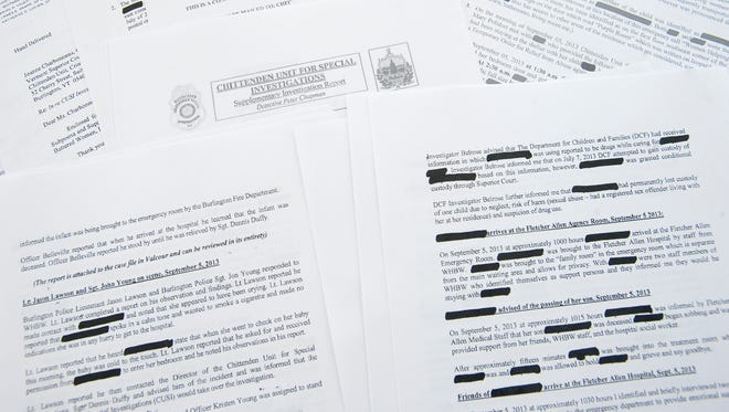 Redacted police reports describe a case where the state Department for Children and Families sought to take custody of a child, but a judge said no. The child died eight weeks later.