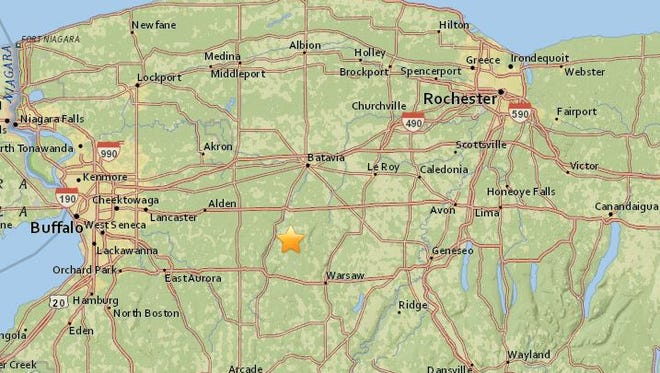 A relatively small earthquake occurred in Attica early Friday morning. The quake, whose magnitude was 1.7, happened just southeast of the Wyoming County town.