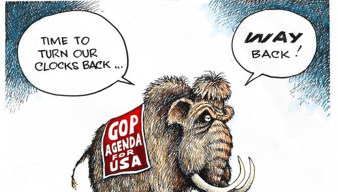 GOP's clock reversal.