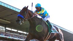 Victor Espinoza, who rode American Pharoah to the Triple