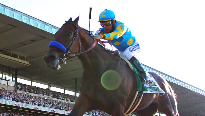 Victor Espinoza, who rode American Pharoah to the Triple Crown in 2015, is hospitalized with a fractured neck vertebra but escaped paralysis after a horse he was riding collapsed and died on Sunday.