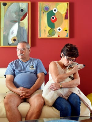 "Mark Steinberg and Francine Figliolo adopted Heidi, a 10-year-old whippet, on Aug. 17, 2017, whose owner suffered from dementia in Central Florida and had to give her up. Within 3 hours, Heidi had escaped and was missing for a month, including the time Hurricane Irma tracked through Florida. Figliolo and Steinberg posted fliers around the county and on social media for help. Heidi was found Sept. 16 in a wooded area on the southwest portion of South County Park. ""Vero Beach is an extraordinary community,"" Figliolo said. ""The most amazing thing about it besides the miracle of the dog surviving, is all the people that stayed with it and came together. They didn't let me give up."""