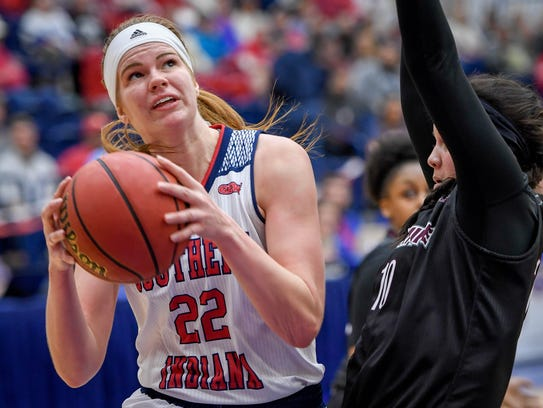 University of Southen Indiana's Morgan Dahlstorm (22)