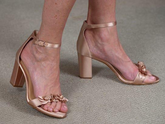 INC Kacee Flower block shoes, $99.50.