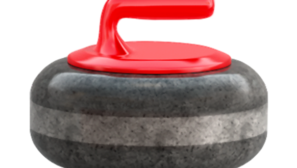The emoji for curling.