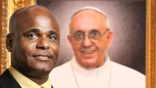 Isaak A. Isaak (cq), director of Catechesis & Formation (cq), for the diocese of Covington, is among local catholics traveling to Philadelphia later this month for the inaugural visit of Pope Francis to the United States. The Enquirer/Patrick Reddy
