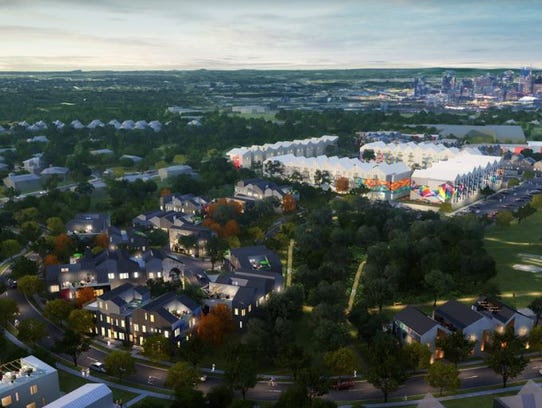 A view of the North Lights project Aerial Development