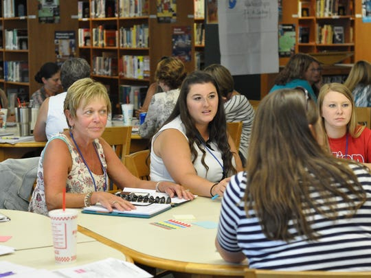 """Cherokee Elementary teachers and Principal Bonnie Lord participate in  """"SCALE UP"""" training during the Rapides Parish School District's Summer Institute on July 11-14 at Peabody Magnet High School."""