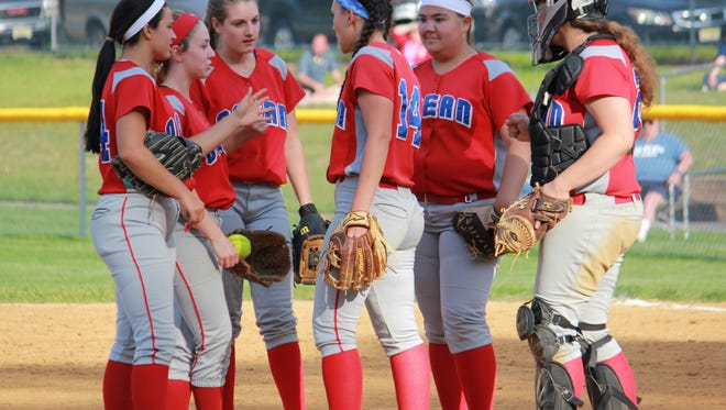 Ocean Township delivered an 8-3 state tournament victory over Brick Township on Monday.