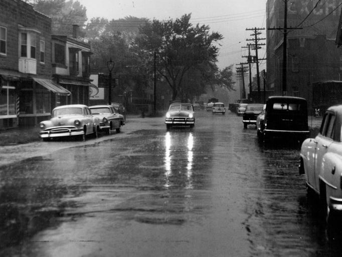 This undated photos shows cars in the streets when