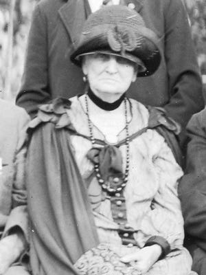 Mrs. Helen Brainard Cole at a GAR (Grand Army of the Republic) reunion in 1920s.