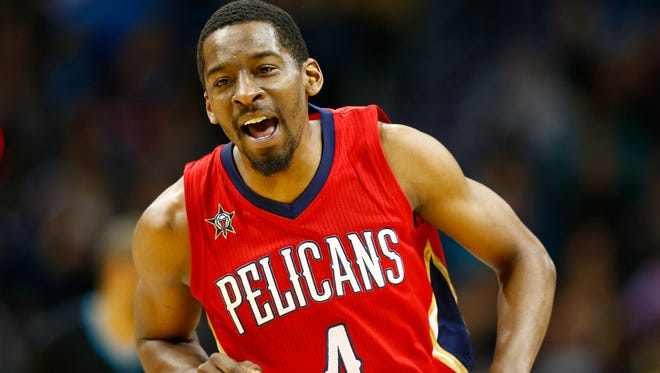 New Orleans Pelicans guard Jordan Crawford says he bought a pair of the Big Baller Brand shoes.