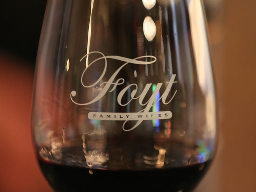 A glass of wine, at the Foyt Wine Vault, opening soon