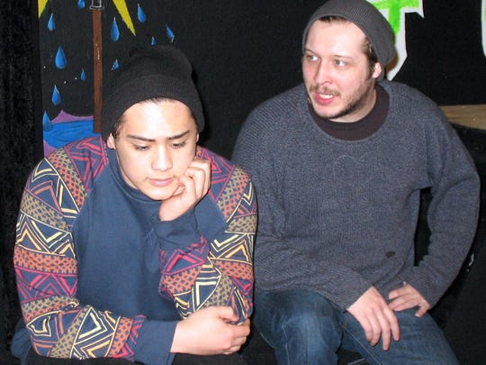 Romeo (Dylan Macabitas, left) unloads his troubles