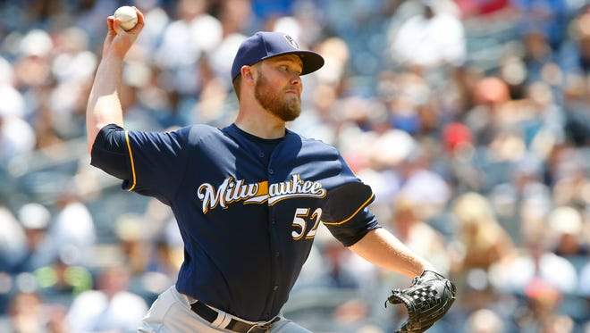 Jimmy Nelson went 12-6 with a 3.49 ERA in 29 starts in 2017 and then missed last year after shoulder surgery.
