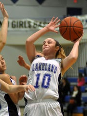 Lakeland's Dominique Zigo shoots against Waterford