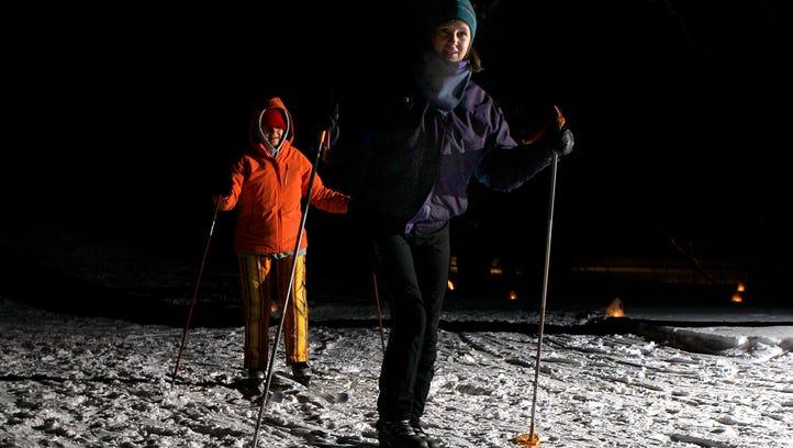 Lapham Peak hosts a popular candlelight ski and hike
