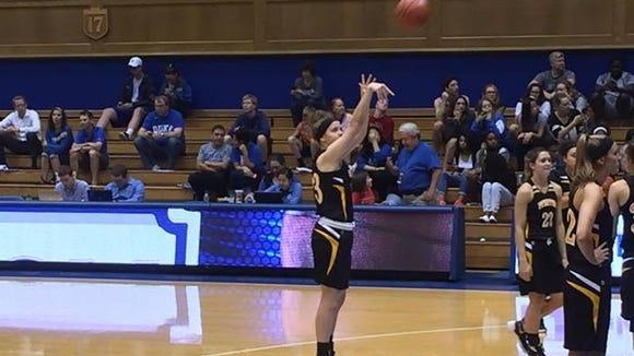 Blue Ridge graduate Kaylee O'Dwyer is a freshman for the Pfeiffer women's basketball team.