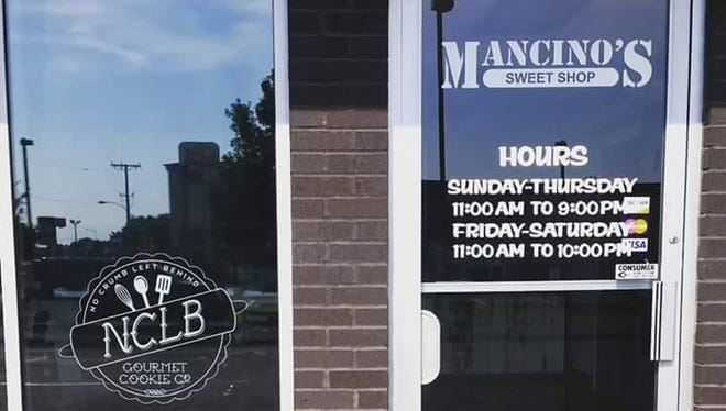 Mancino's Sweet Shop is located next door to the restaurant and sells cookies made by the local business No Crumb Left Behind.