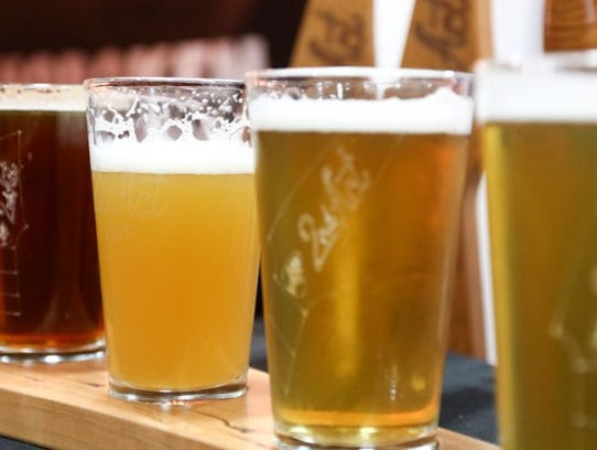 Craft beers from the Big Brew Beer Festival at Morristown Armory on March 3.