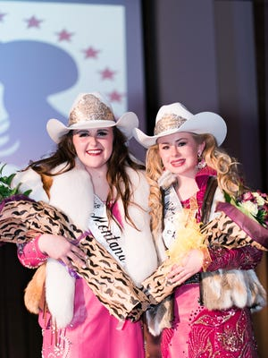 Kaitlin Kolka, left, is Miss Rodeo Montana 2018. Keely Drummond of Belt was crowned Miss Teen Rodeo Montana 2018.