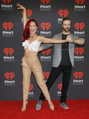 Sharna Burgess, left, will be taking a break from 'Dancing' while her partner, James Hinchcliffe, performs with a different pro.