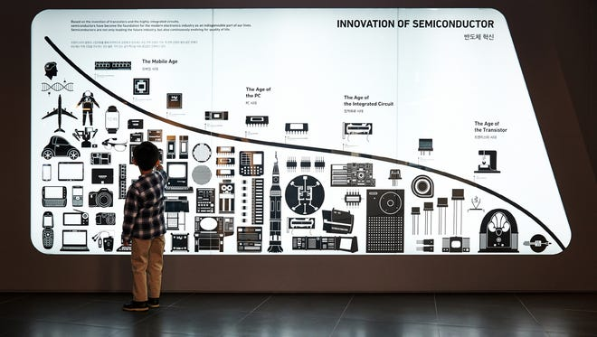 This Innovation of the Semiconductor exhibit is inside the Samsung Innovation Museum